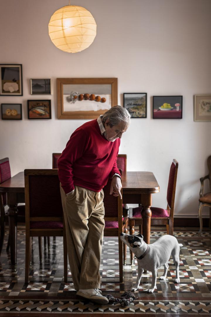 Fotografía de Sofia Moro para Nthephoto. El escritor Juan Marsé en su casa de Barcelona