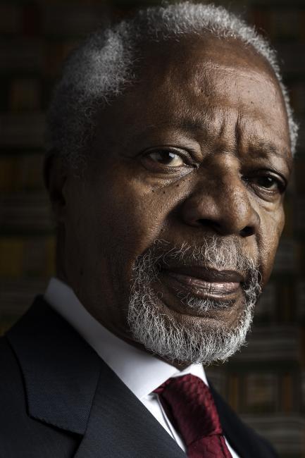 Fotografía de Sofia Moro para Nthephoto. Retrato de Koffi Annan