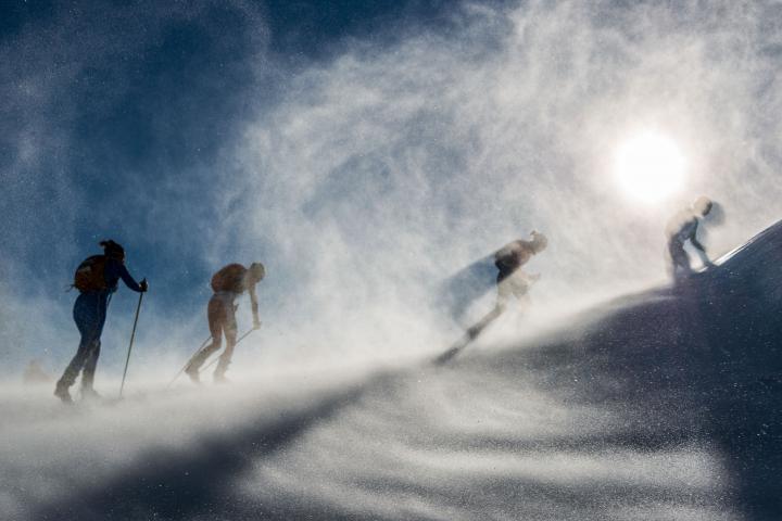 Fotografía de JOSEP M MONTANER para Nthephoto. Foto ganadora de un accesit  en Foto Nikon 2015 en el apartado de deportes. Campeonato de mundo de esquí de montaña en Andorrao