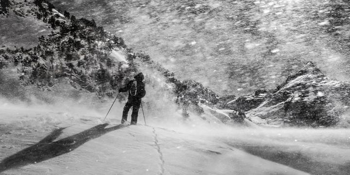 Fotografía de Pedro García Sáez para Nthephoto. Blizzard en Pirineos