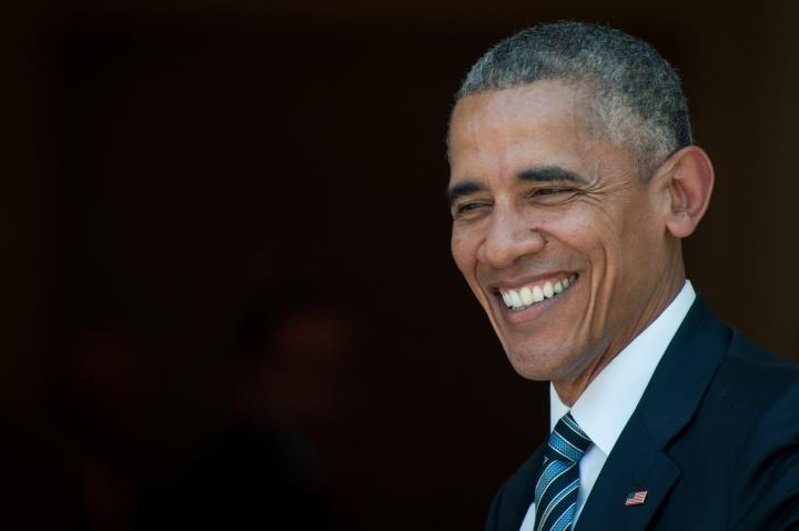 Fotografía de Diego Puerta para Nthephoto. El Presidente Barack Obama durante su visita oficial en El Palacio de la Moncloa.