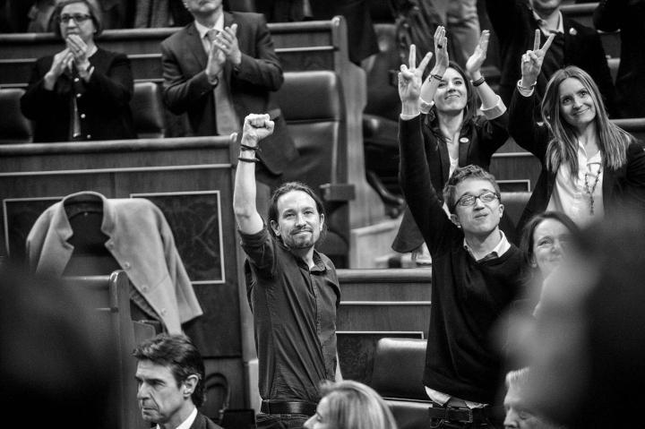 Fotografía de Dani Gago para Nthephoto. Pleno de Constitución del Congreso después de las elecciones generales del 20 de diciembre de 2015.