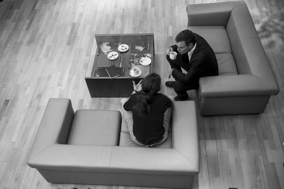 Fotografía de Dani Gago para Nthephoto. Reunión entre Pablo Iglesias y Pedro Sanchez