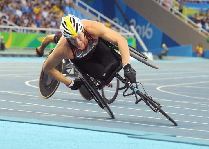 Fotografía de Javier Regueros para Nthephoto. Carrera en silla de ruedas en los JJPP de Rio 2016