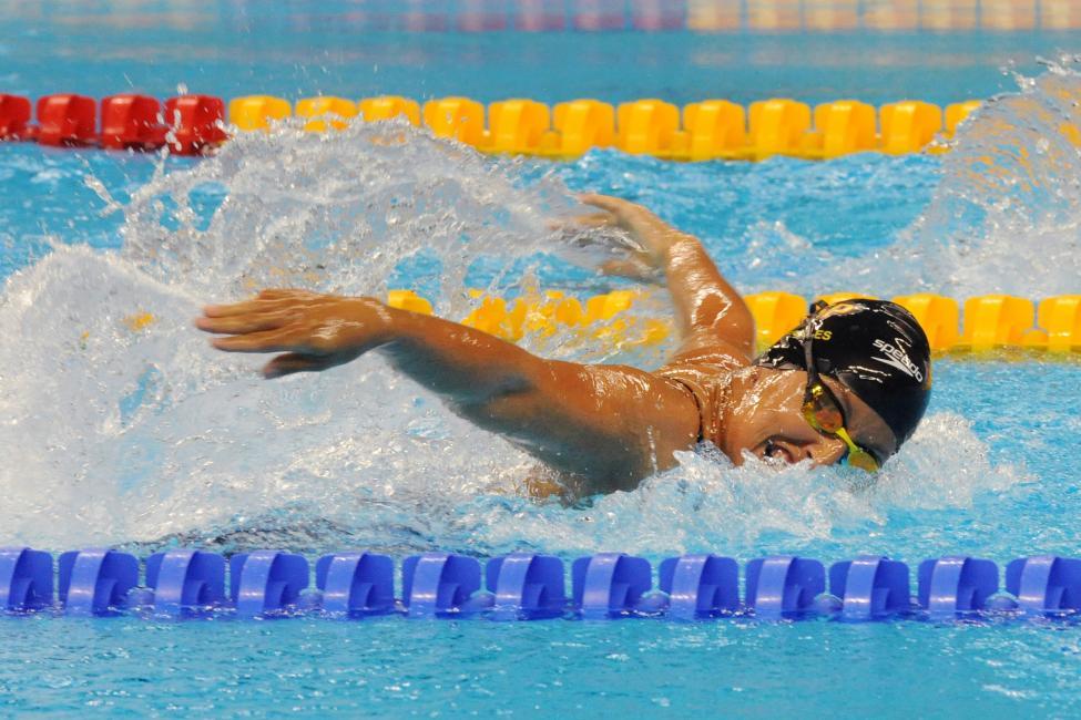 Fotografía de Javier Regueros para Nthephoto. Teresa perales en 50 m. mariposa en los JJPP Rio 2016